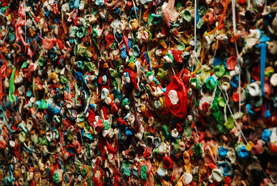 2011-01 The Gum Wall in Post Alley at Pike Place Market